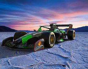 3D model rigged Formula One car