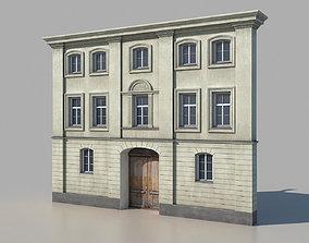 3D asset game-ready Classic building facade 01
