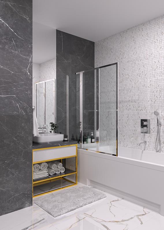 Bathroom TAU wall ceramic decor classic