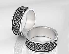 Ring with ornament present 3D print model