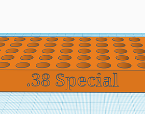 3D print model 38 Special Reloading tray with handles