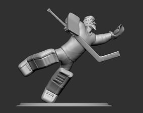 Hockey Player goalie Collectible Figure Statue 3D 3