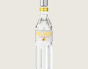 3D model Finlandia Original Classic Grapefruit Bottle 2