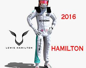 Lewis Hamilton 2016 3D model