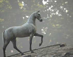 Horse Rigged Animated and Textured 3D asset game-ready
