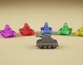 3D print model Risiko supertank hi and low poly