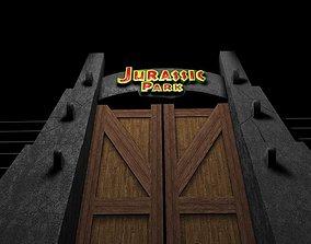 3D Jurassic Park Gate
