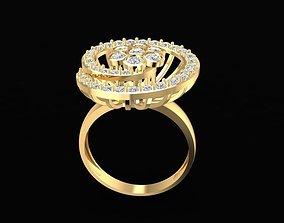 1471 Diamond Spiral Ring 3D print model