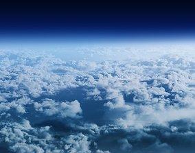 3D model Nine high quality Cloud clusters in VDB