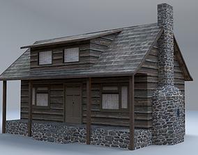 Rustic Cabin 3D asset