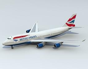 3D 747-400 British Airways