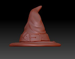 3D print model sculptures witch hat