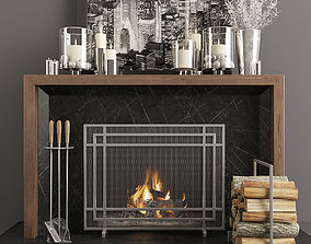 Fireplace and Decor 36 3D model