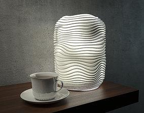 Generative design Wave lamp 4 high quality 3D print model