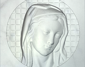 3D printable model holy mary in circle