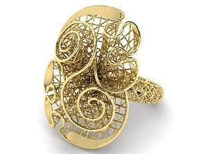 jewelry 3D print model Ring ultra vision