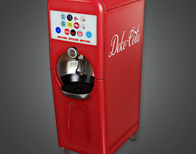 3D asset SAM - Soda Machine 02 - PBR Game Ready