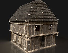 3D model Next Gen AAA THATCHED FANTASY MEDIEVAL WOODEN 3