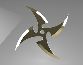Ninja Star 4 blades Double sided sharpening 3D print model