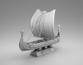 Vikings ship 3D printable model