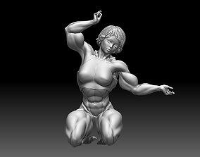 Bodybuilder statue body builder character 3D print 3D