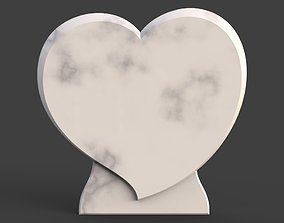 Heart tombstone 3D print model