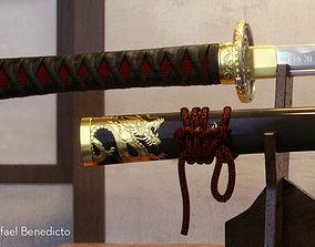 Samurai Katana - High Poly 3D