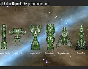 2D Enkar Republic Frigates Collection 3D