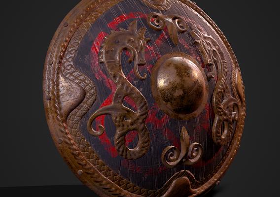 Dragon Viking Shield