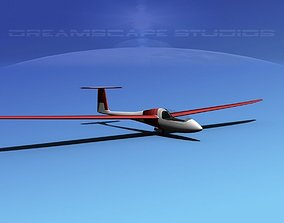 3D model rigged realtime Venture Sailplane