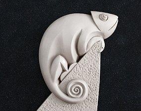 lizard Chameleon 1 3d print model