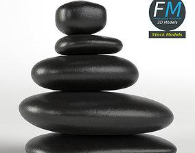 3D model Japanese meditation stones