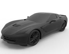 3D print model Chevrolet Corvette C7 Stingray