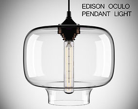 Edison Oculo Pendant Light 3D model