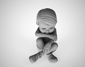 fun 3D print model Crying Child