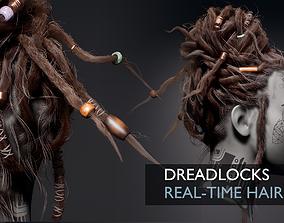3D asset Dreadlocks Realtime Hairstyle - Game Hair