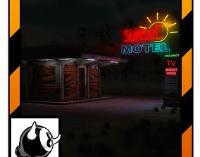 Abandoned Motel 3D asset