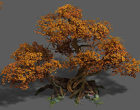 3D Plant - red tree 03