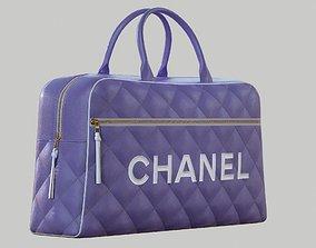 CHANEL Vintage Logo Bowler Bag Quilted Lambskin 3D asset