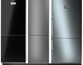 Refrigerator set BOSCH 4 3D model