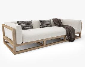 Restoration Hardware Aviara Teak Sofa 3D