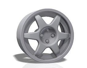 6 spokes rim 3D print model