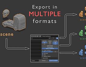 Export in multiple formats 3D model
