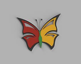 Butterfly caterpillar 3D print model