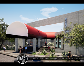 CULTURAL CENTER by DOCE INGENIEROS ARQUITECTOS 3D model 3