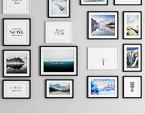 photo frame wall 16 collection 3D model