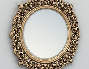 Round mirror frame 001 3dmodel 3D model