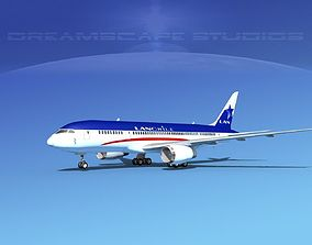 3D model Boeing 787-8 Lan Chile