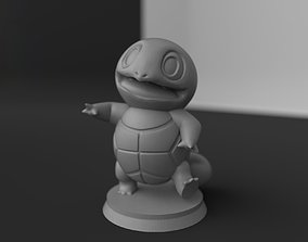 Squirtle with base 3D printable model
