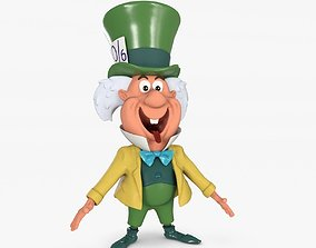 3D asset Mad Hatter Low-poly Textured
